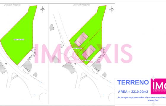 Terreno em zona de construção / Orgens.